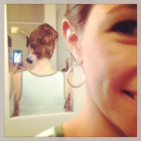 I am sock bun obsessed. Not exaggerating.