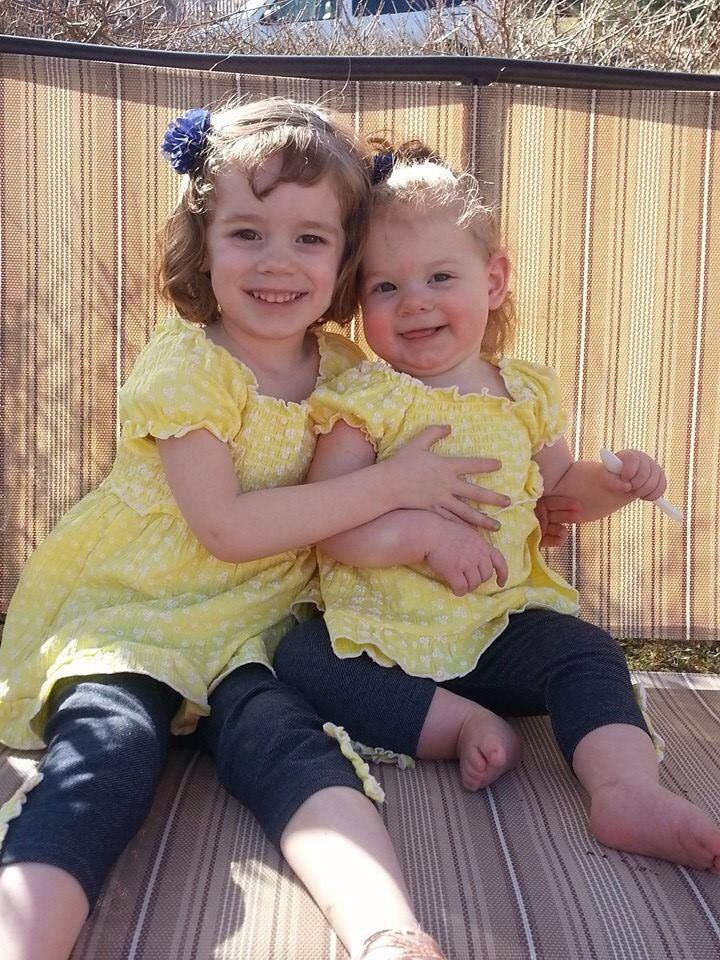 Recent photo of Cheyenne with proud big sister Jaycee