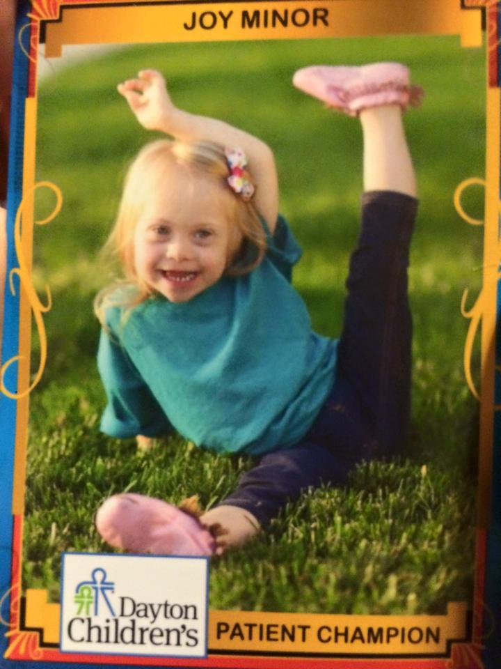 My girl Joy Marie is a star therapy recipient at Dayton Children's!